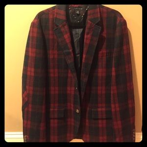 Tommy Hilfiger special edition red plaid blazer